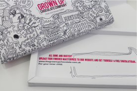 Packaging Design für The Grown Up Chocolate Company