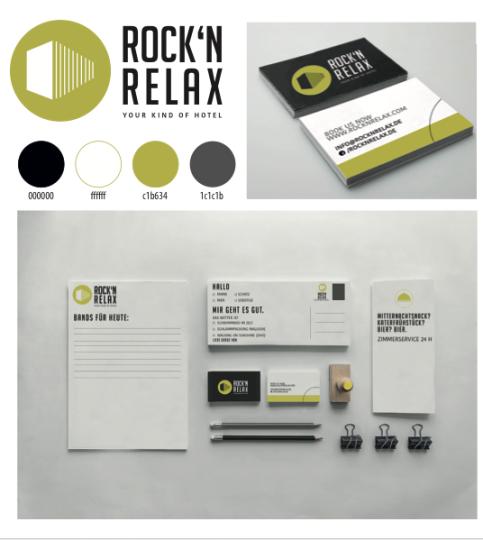 Corporate Identity für das Konzepthotel ROCK'N RELAX